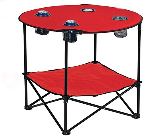 Preferred Nation Folding Table, Red (Lawn Table)