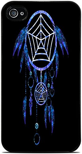 Dream Catcher Tribal Indian Symbol Black Hardshell Case for iPhone 4 / 4S by Moonlight Printing
