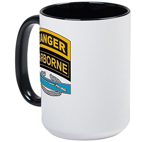 CafePress - CIB With Ranger/Airborne Tab Large Mug - Coffee