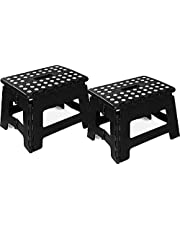 Utopia Home Foldable Step Stool for Kids - 11 Inches Wide and 8 Inches Tall - Holds Up to 300 lbs - Lightweight Plastic Design