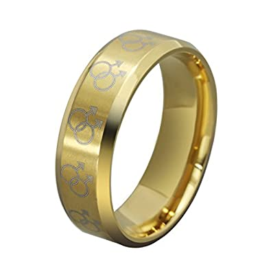Amazon AnaZoz Jewelry fashion gold ring male boyfriend