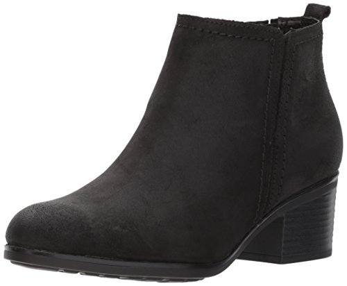 Rockport Women's Danii Side Zip Ankle Bootie, Black Leather, 11 M US by Rockport