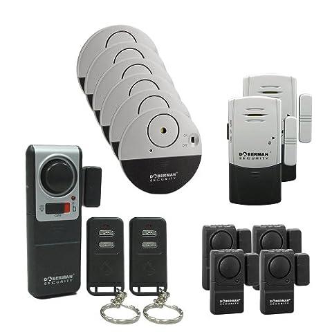 Doberman Security 13 alarm Home and Office security Kit(SE-0157) (Doberman Door Alarm With Remote)