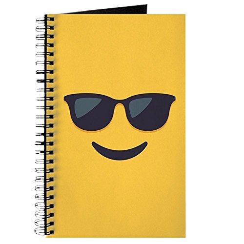 CafePress - Sunglasses Emoji Face - Spiral Bound Journal Notebook, Personal Diary, - Journal Sunglasses