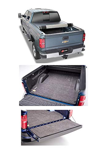 MC07LBS/BMC07TG Revolver X2 Tonneau Cover & Classic Bed & Tailgate Mat Bundle for 14-18 GM Silverado/Sierra w/ 8' Bed & Spray In/No Bed Liner ()