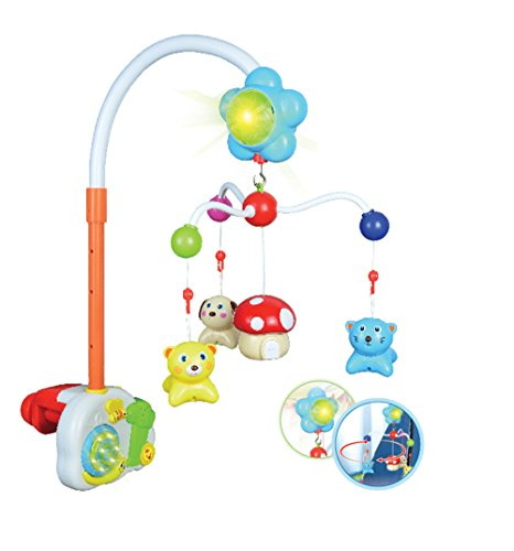 MOLITONG Baby Crib Mobile Bed Bell Holder Bracket Arm with Sound and Light Music Box and Cute Toys