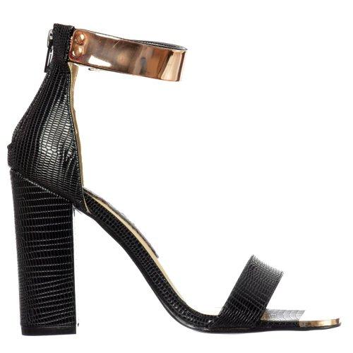 Onlineshoe Women's Ladies Peep Toe Mid Heels High Back Go...