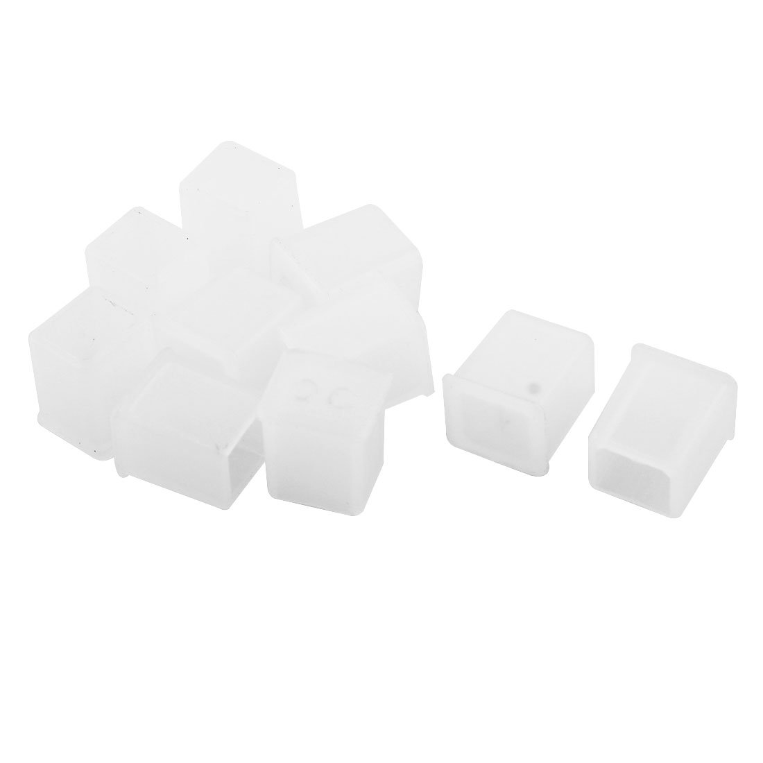 Uxcell a15031300ux0011 10 Pcs Clear Plastic Anti Dust Cover Cap for USB-B Male Port Printer (Pack of 10)