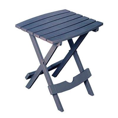 Adams Manufacturing 8510-94-3901 Quick-Fold Side Table, Bluestone : Garden & Outdoor
