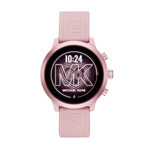 Michael Kors Access Women's MKGO Touchscreen Aluminum and Silicone Smartwatch, Blush/Pink-MKT5070