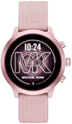Michael Kors Access Women's MKGO Touchscreen Aluminum and Silicone Smartwatch, Blush/Pink-MKT5070