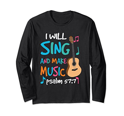 Christian Rock Guitar Long Sleeve Shirt Religion Music Gift