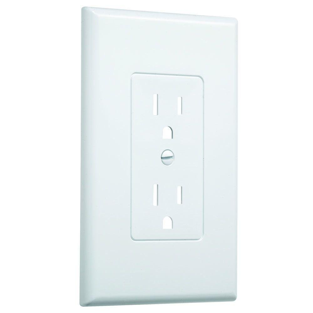 1 Gang Decorator Wall Plate White Textured 20 Pack Light Switchplates Outlet Covers Switch Plates Wallplates
