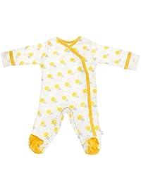 Babysoy baby-girls Baby Boy Organic Animal Prints Kimono Footie