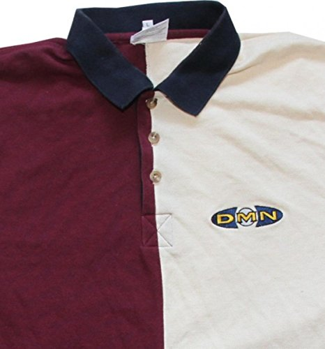 Demolition Skateboard Polo T-Shirt Bordeaux/ Cream