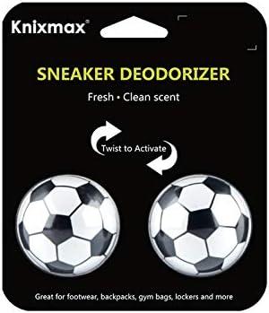 Knixmax Schuh Deodorants Bälle Desodorierungsbälle Lufterfrischer für Turnschuhe, Schließfächer, Sporttaschen - Auch für Zuhause, Büros und Autos geeignet - 2er-Pack - Jasminfrische