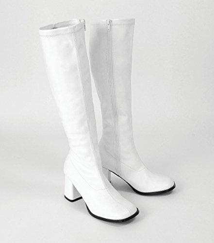 Boots 5 6 60s GoGo 70s White Platform Sz wWH4Rx6q