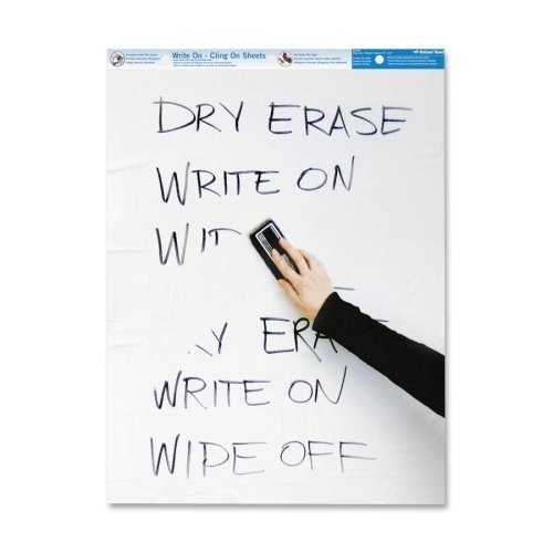 Rediform Office Products Write On Cling Sheets, Plain Ruling, 35 Sheets, 27