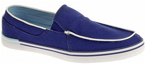 Hush Puppies Heren Jase Mt Instappers Loafer Blauw Canvas