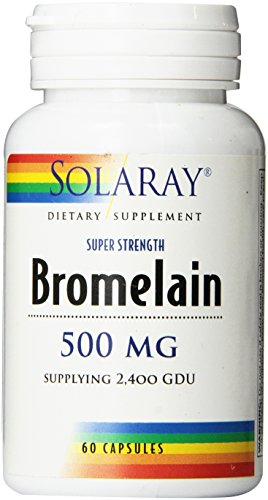Solaray Bromelain Supplement, 500mg, 60 Count For Sale