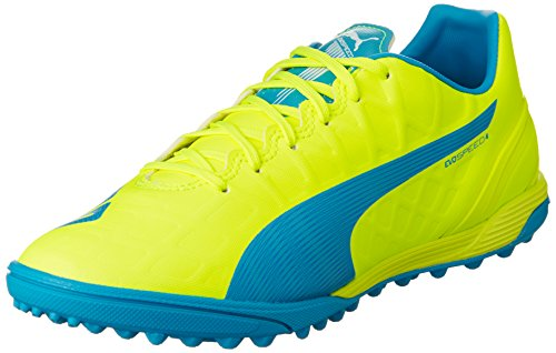 Puma evoSPEED 4.4 TT, Herren Fußballschuhe, Gelb (safety yellow-atomic blue-white 04), 47 EU (12 Herren UK)