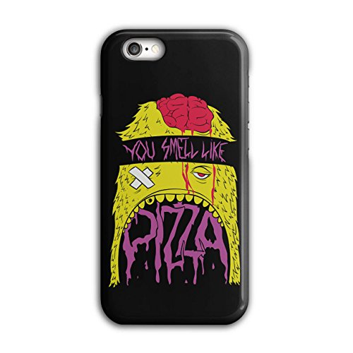Smell Pizza Zombie Dead Hungry NEW Black 3D iPhone 6 / 6S Case | Wellcoda (Zombie Pizza)