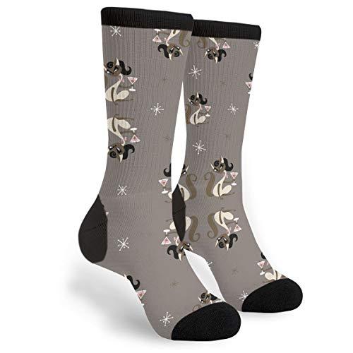 Fashion Travel Breathable Socks Siamese Girl Cat With Martini Men & Women Running Casual Socks]()