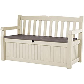 Awesome Keter Eden 70 Gal All Weather Outdoor Patio Storage Bench Deck Box ,  Beige/Brown