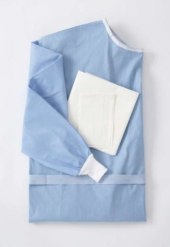 Medline DYNJP2208 Sterile Poly-Reinforced Eclipse Gown with Breathable Impervious Sleeve, X-Large, Blue (Pack of 30) by Medline