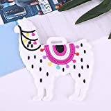 GothYor Youngle Alpaca Luggage Tag Silicone Name Tag Holder(White)