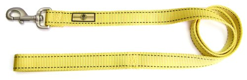 Hamilton 1-Inch by 4-Inch Single Thick Nylon Pet Sport ID Dog Lead, Yellow, My Pet Supplies