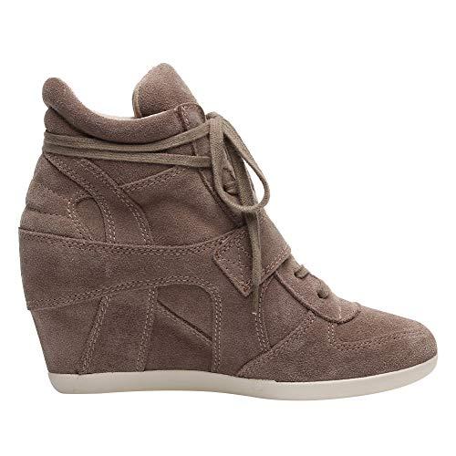 Mode Boucle Talon Femmes Caché Rismart Chaussures Baskets Confort Beige Crochet Tennis Compensé wRaX1x1qz