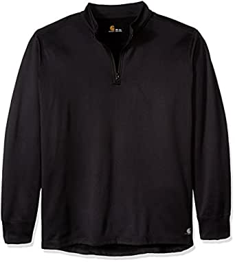Carhartt Men's Big & Tall Base Force Extremes Super-cold Weather Quarter-zip Sweatshirt, Black, Large/Tall