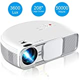 Video Projector, iBosi Cheng Home Theater Projector LCD Portable Projector 1080P Full HD Projector with 3600 Lux, 208' Large Screen, Support with HDMI USB VGA Ports for TV Box Laptop Smartphones