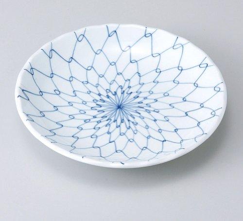 Japanese dishes Blue white porcelain 5.5 round dish three braided MINO-yaki Japanese plates and enjoy toy (kitchen utensils) with by Japanese dishes