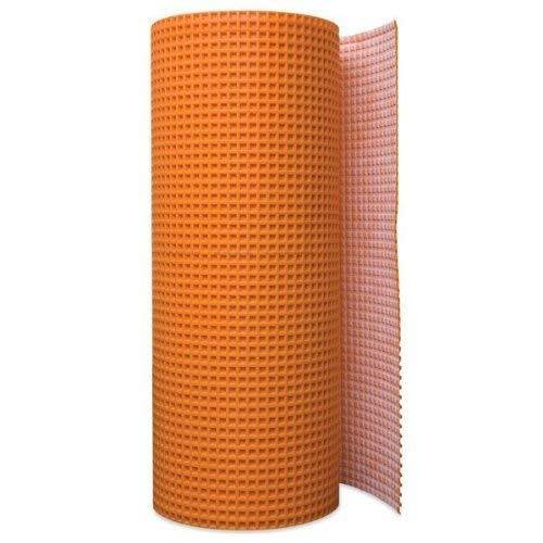 Uncoupling Membrane 3.3 feet x 98.5 feet / 323 Square Feet - Tile Underlayment Mat - Waterproofing, Anti-Fracture, Crack Isolation Membrane