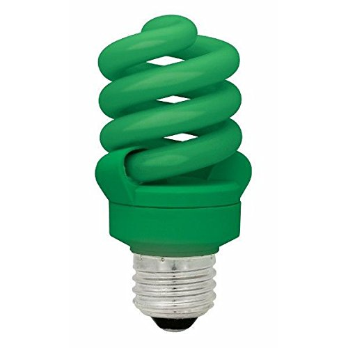 Cfl Compact Flourescent Lamp Bulb - TCP CFL Spring Lamp, 60W Equivalent, Green Colored Spiral Light Bulb