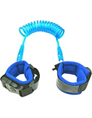 PAMBO Anti-Lost Wrist Link/Strap/Leash For Toddlers & Kids Safety| Safety Harness For Your Child| Blue (Blue)