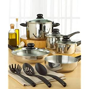 Tools of the Trade Basics Starter 12-Piece Cookware Set