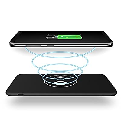 Wireless Charger Power Bank 10000mAh QI Battery Charger Pad,Huafly Portable Power Bank Charger QI Wireless Charging Pad for Samsung Galaxy Note 8 S8 and Standard Charge for iPhone X / 8 / 8 Plus