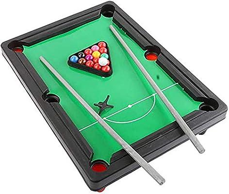El Juego de Billar Mini Tabletop Pool Set Incluye Bolas de Juego, Palos, portátiles y Divertidos para Toda la Familia (3 Piezas) Uptodate: Amazon.es: Deportes y aire libre