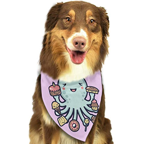 OURFASHION Octopus Dessert Bandana Triangle Bibs Scarfs Accessories for Pet Cats and -