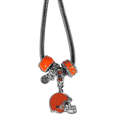 NFL Cleveland Browns Euro Bead Necklace, 18-Inch