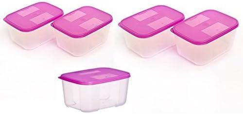 Tupperware congelador recipiente mate Set, 700 ml, juego de 5 ...