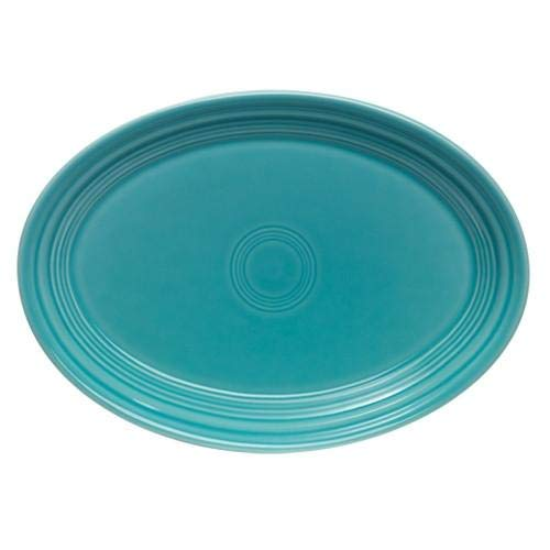 Fiesta Homer Laughlin China Turquoise Oval Platter 9 5/8