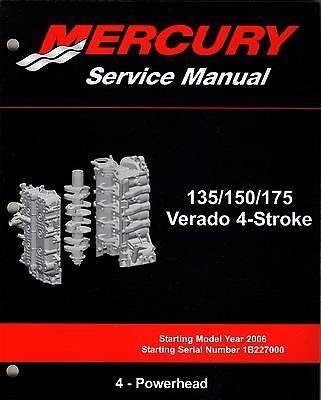 2006 mercury 135 150 175 verado 4 stroke 4 powerhead service rh amazon com mercury verado 150 owners manual 2012 mercury verado 150 manual