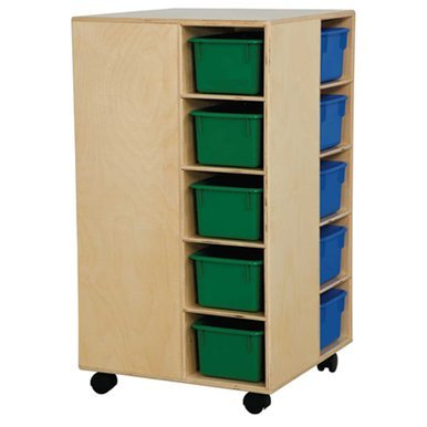 Wood Designs 61403AP Cubby Spinner With Assorted Pastel Trays