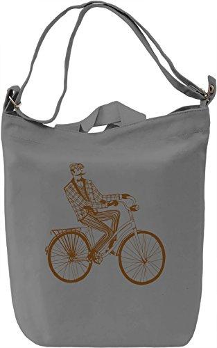 Vintage bike Borsa Giornaliera Canvas Canvas Day Bag| 100% Premium Cotton Canvas| DTG Printing|