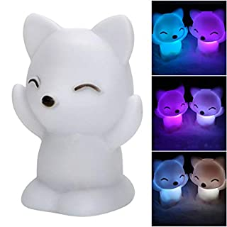 Lovely Fox Shape LED Night Light Decoration Lamp 7 Changing Colors Birthday Gift LED Light Clearance Sales