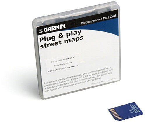 Garmin City Navigator NT SD Data Card for Garmin GPS Units, Italy and Greece (010-10693-00)